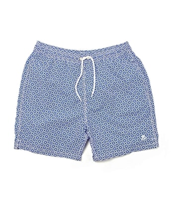 Swimming Trunks - Navy Geometric