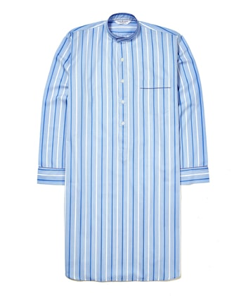 Nightshirt - Blue/White (Fine Cotton)