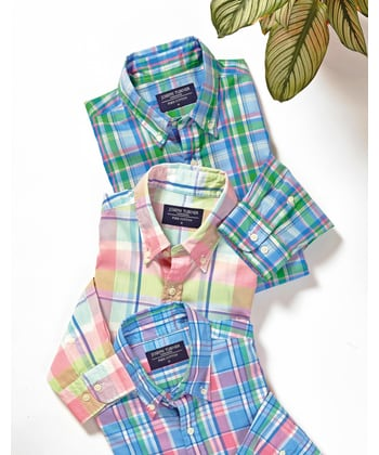 Madras Check - Blue/Pink