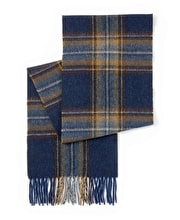 Lambswool Scarf - Brown/Blue