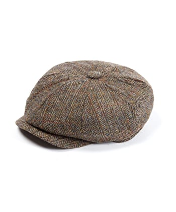 Newsboy Cap - Green/Brown