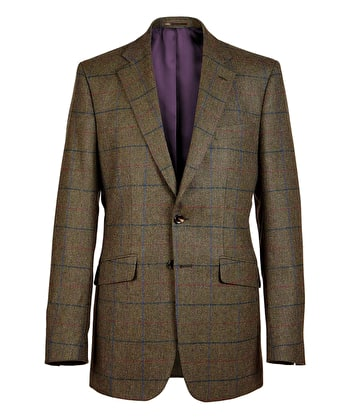 Dales Tweed Jacket - Blue/Red/Purple Check