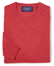 Lambswool Jumper - Crew Neck - Soft Red