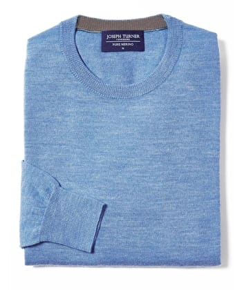 Merino Jumper - Crew Neck - Cornflower
