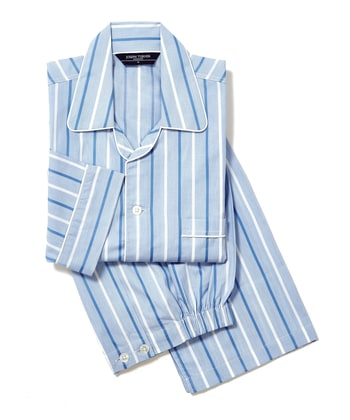 Pyjamas - Blue/White (Fine Cotton)