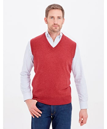 Lambswool - Slipover - Soft Red