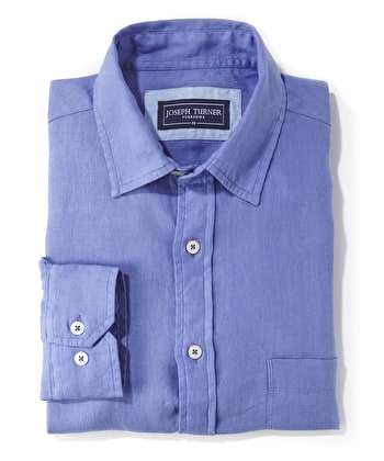 Linen Shirt - Long Sleeve - Pacific Blue