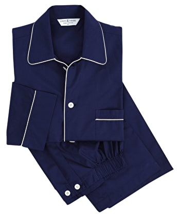 Pyjamas - Navy - Fine Cotton