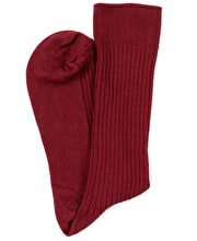 Combed Cotton Socks - Wine