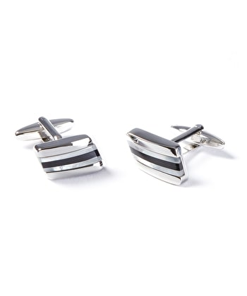 Mother of Pearl / Onyx Bar Cufflinks