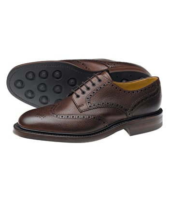 Badminton Calf Full Brogue Shoe - Brown