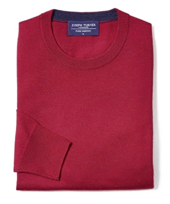 Merino Jumper - Crew Neck - Red