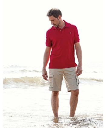 Pique Polo Shirt - Red