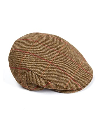 Flat Cap - Olive/Red Waterproof