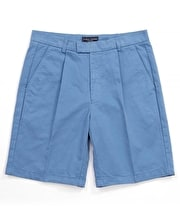 Cotton Twill Shorts - Pleat Front