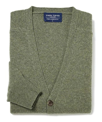 Lambswool - Cardigan - Green