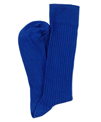 Combed Cotton Socks - Blue