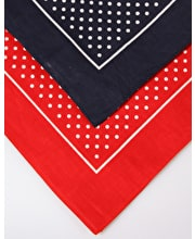 3 x boxed Spotty Hankie - 2 Blue/1 Red