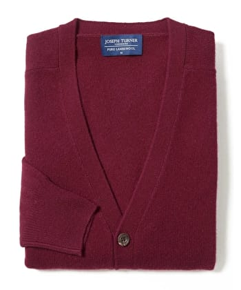 Lambswool - Cardigan - Burgundy