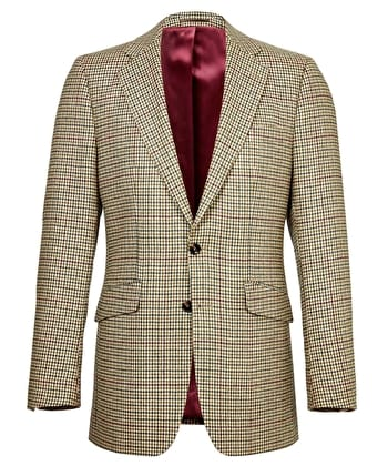 Dales Tweed Jacket - Green/Burgundy Check