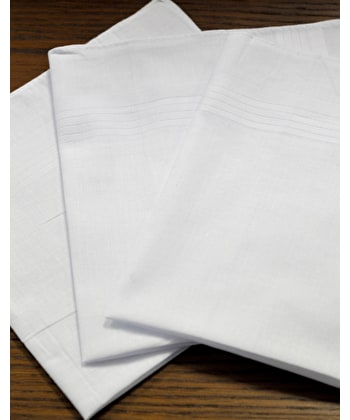 3 boxed white cotton hankies - White Cotton