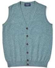 Lambswool - Sleeveless Cardigan