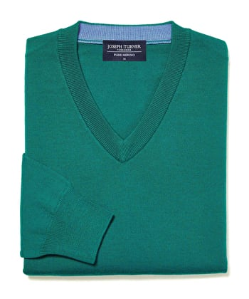 Merino Jumper - V Neck - Teal