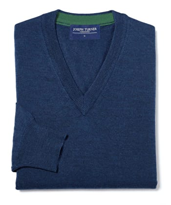 Merino Jumper - V Neck - Winter Navy