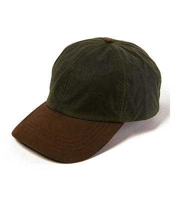 Peaked Cap - Waxed Olive