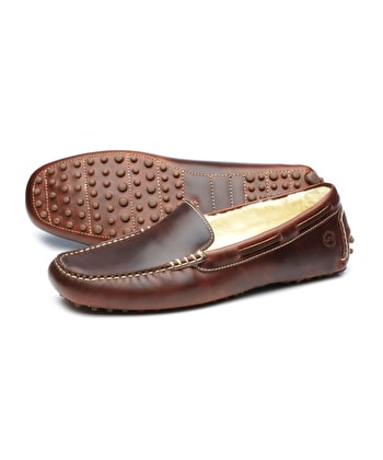 Mohawk Slipper - Tan Leather
