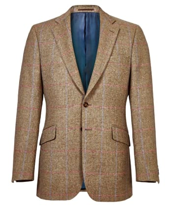 Dales Tweed Jacket - Blue/Pink Check