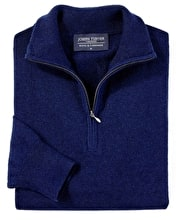Wool/Cashmere Jumper - Half-Zip