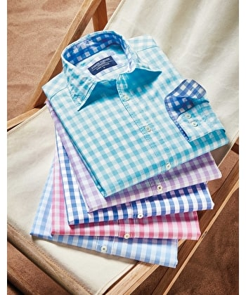 Casual Gingham Check Shirt - Pink