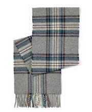 Lambswool Scarf - Grey/Teal