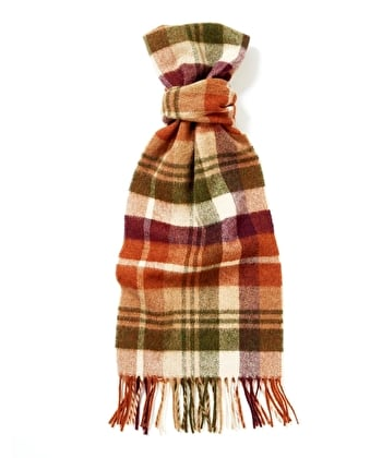 Lambswool Scarf - Camel/Olive