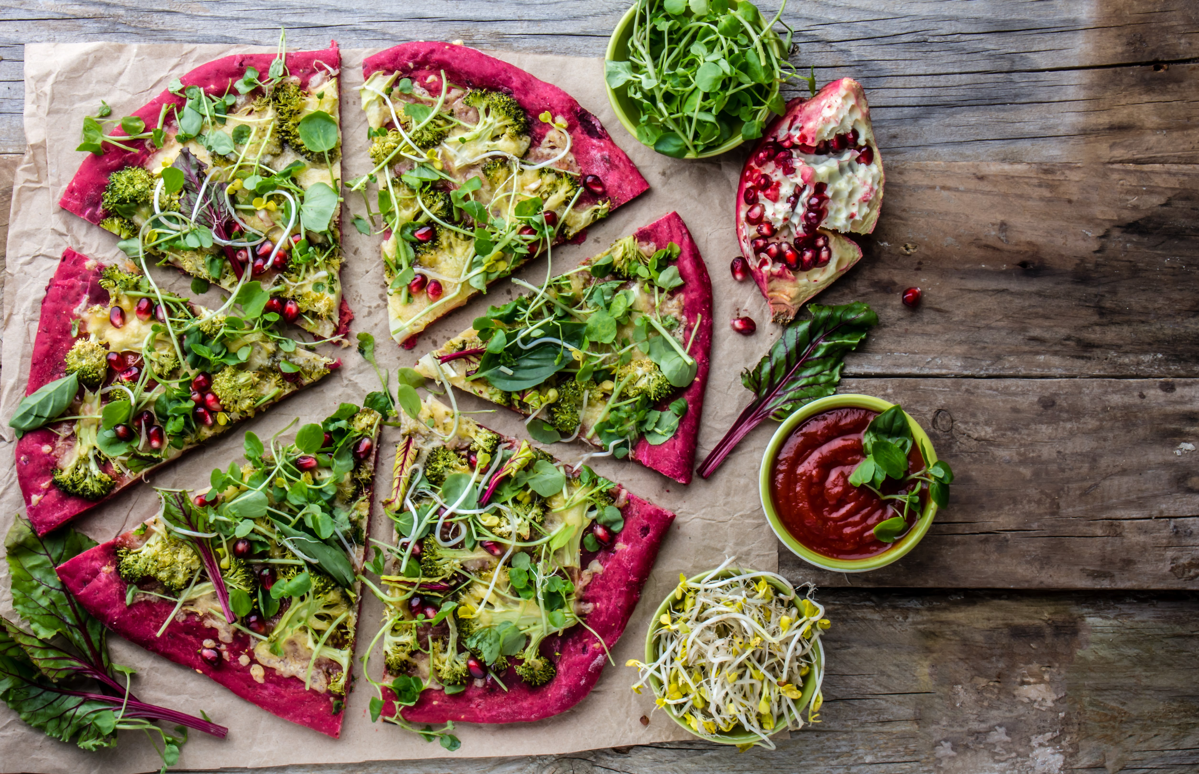 Beetroot Base Pizza