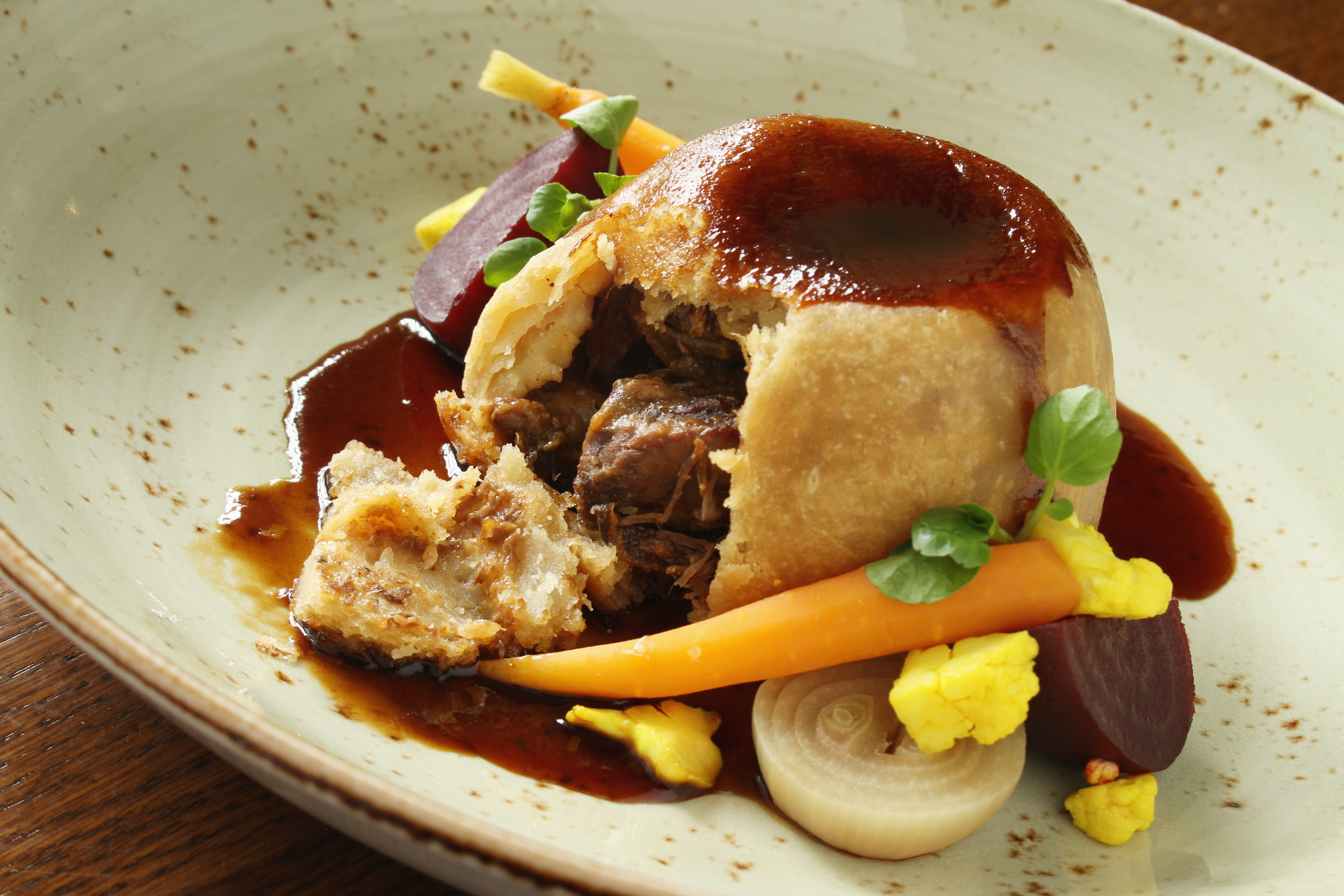 Steak and kidney suet pudding recipe
