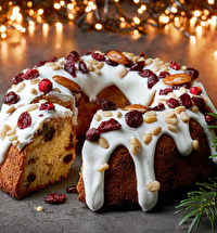 Love this bundt Christmas cake, so easy to make! #christmaswithKC