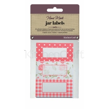 Home Made Pack of 30 Jam Jar Labels - Roses