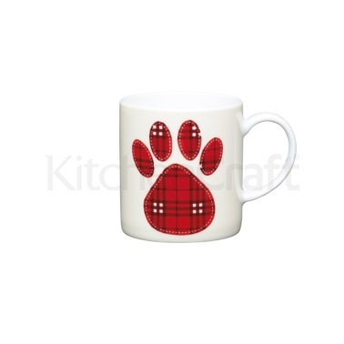 KitchenCraft 80ml Porcelain Paw Print Espresso Cup