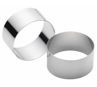 KitchenCraft Set of Two Stainless Steel Cooking Rings