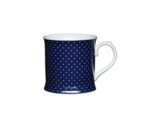 Kitchen Craft Fine Porcelain Blue Spot Mug
