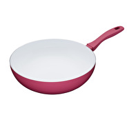 Colourworks 30cm Non-Stick Carbon Steel Pink Wok