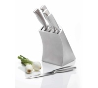 MasterClass Orissa 5 Piece Knife Set with Deluxe Stainless Steel Storage Block