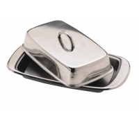 KitchenCraft Stainless Steel Covered Butter Dish