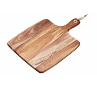 KitchenCraft Natural Elements Acacia Wood Square Serving Paddle Board