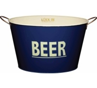 BarCraft Large Tin Beer Pail / Cooler