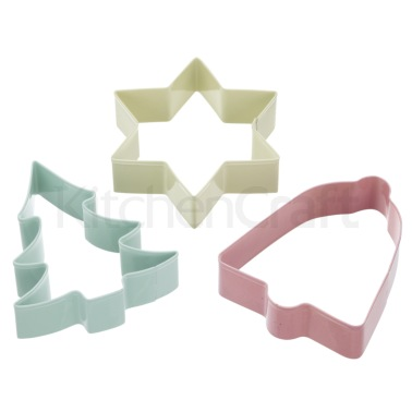Sweetly Does It Set of 3 Christmas Cookie Cutters