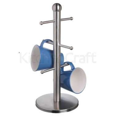 MasterClass Deluxe Stainless Steel Six Hook Mug Tree