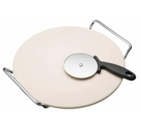 KitchenCraft World of Flavours Italian Pizza Stone Set